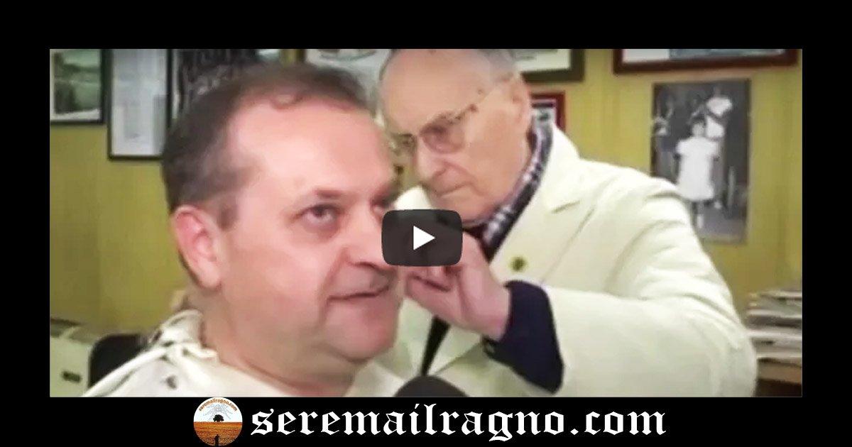 Il barbiere di 89 anni lavora a Civitanova Marche
