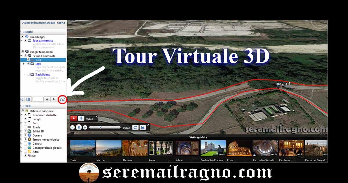 Creare un Tour Virtuale 3D con Google Earth Pro, utilizzando l'attività  del Garmin