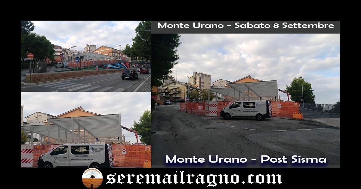 Post sisma Monte Urano: proseguono i lavori per le aule scolastiche temporanee