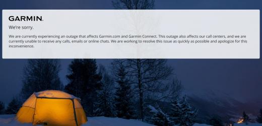 Garmin sotto attacco, app e sito offline