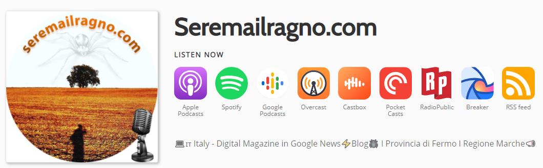 Podcast-Seremailragno-Regione-Marche-1
