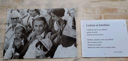 Il borgo di Monte Giberto e le poesie di Gianni Rodari